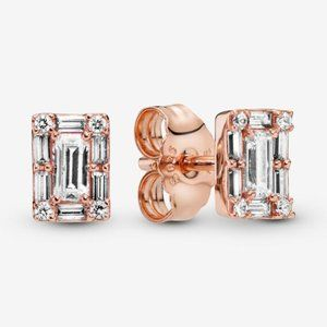 Pandora Sparkling Square Halo Stud Earrings